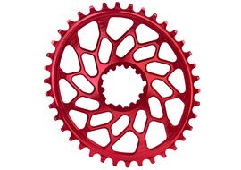 Absolute Black CX Oval Chainring for Sram Direct Mount GXP Red 2020