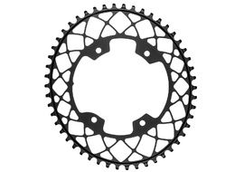 Absolute Black Gravel Oval Chainring for 110 mm 4 holes Grey 2020