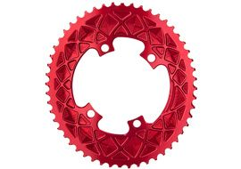 Absolute Black Premium Road Oval 110/4 Chainring (Shimano asymetrical) - Red 2020