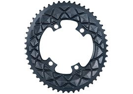 Absolute Black Premium Road Oval 110/4 Chainring (Shimano asymetrical) - Grey 2020