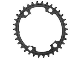 Absolute Black Premium Road Oval 110/4 Chainring (Shimano asymetrical) - Black 2020