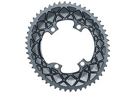 Absolute Black Premium Road Oval 110/4 Chainring M9100/8000 (Shimano asymetrical) - Grey 2020
