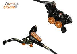 Hope Tech 3 V4 Rear Disc Brake Pur'Edition Black / Orange - Standard 2020