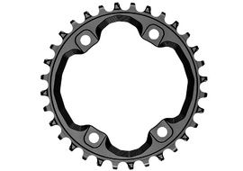 Absolute Black Narrow Wide Chainring for Shimano XT M8000 96 mm asymetrical - Black 2020