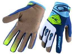 Kenny Track Gloves Cyan Neon Yellow 2020