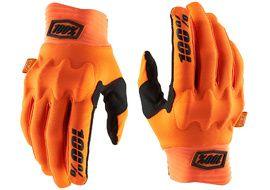 100% Cognito D3O Gloves Orange/Black 2020