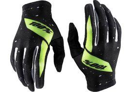 100% Celium Gloves Black/Fluo Yellow 2020