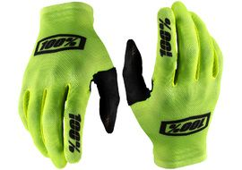 100% Celium Gloves Yellow/Black 2020