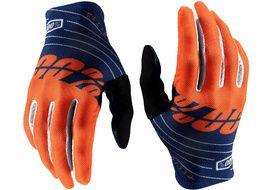 100% Celium Gloves Navy/Orange 2020