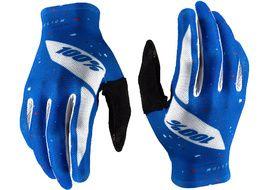 100% Celium Gloves Blue/White 2020