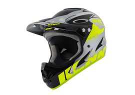 Kenny Down Hill Helmet Graphic Neon Yellow Silver 2021