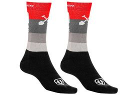 Mondraker Racing High Socks Red Grey 2021