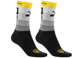 Mondraker Racing High Socks Yellow Grey 2021