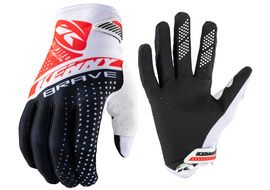Kenny Brave Gloves White, Black and Red 2021