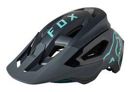 Fox Speedframe Pro Helmet Black and Teal 2021