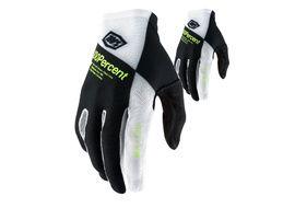100% Celium Gloves Black/White Yellow 2021