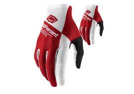 100% Celium Gloves Silver Red 2021