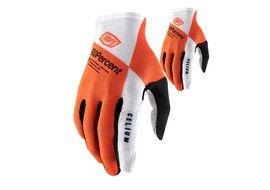 100% Celium Gloves Orange/White 2021