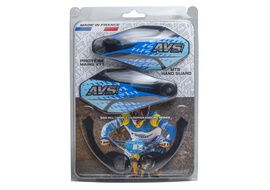 AVS Hand Guard with aluminium support - Black / Blue