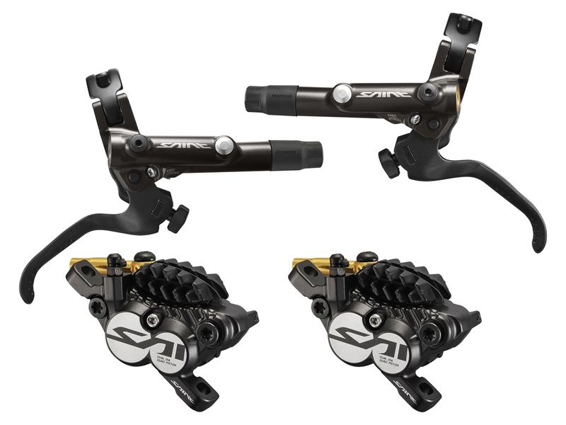 fd11607f9ac Shimano Saint M820 disc brake set black without rotor and adapter 2019