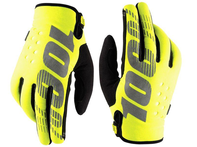 100% Brisker Yellow Gloves 2018