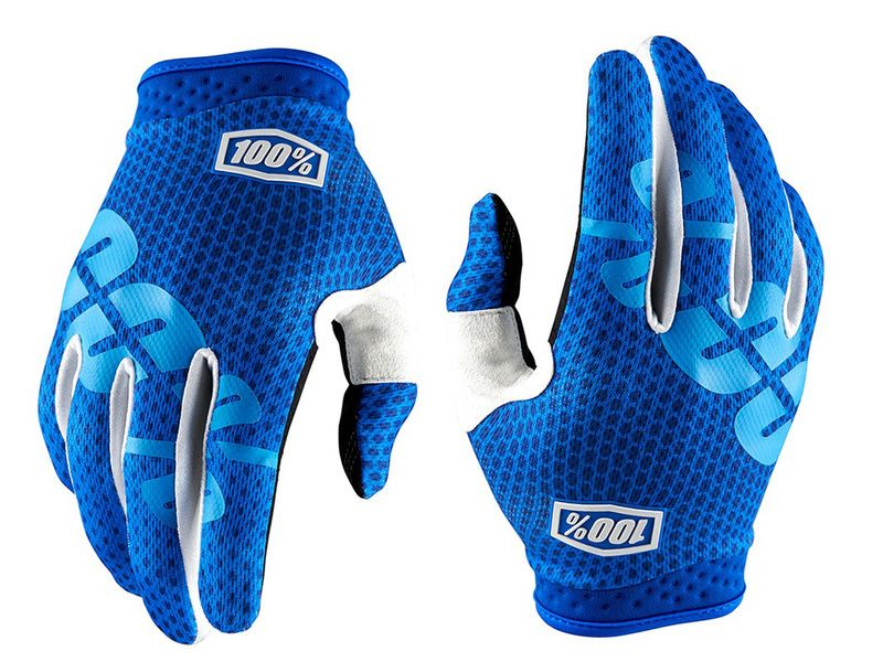 100% iTrack Gloves - Blue 2018