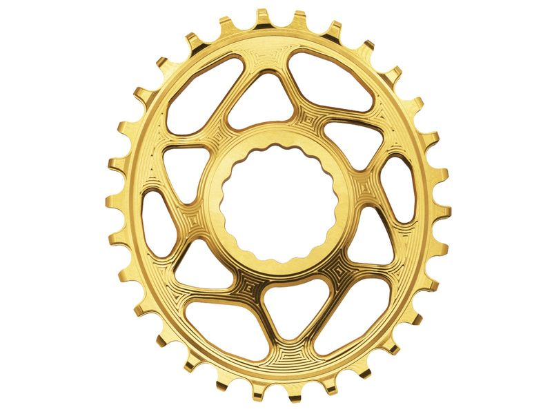 Absolute Black Oval Narrow Wide Direct Mount chainring for Race Face Gold 2018