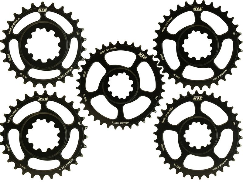North Shore Billet Direct Mount Variable Tooth Chainring 26T SRAM GXP Spindles