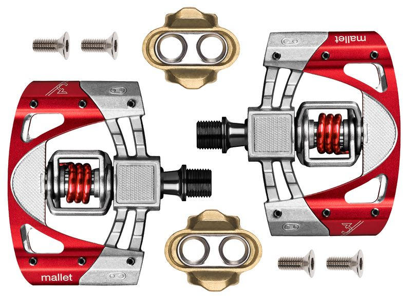 fd19adc6300 Crank Brothers Mallet 3 New Pedals Red 2019 - Clipless pedals ...