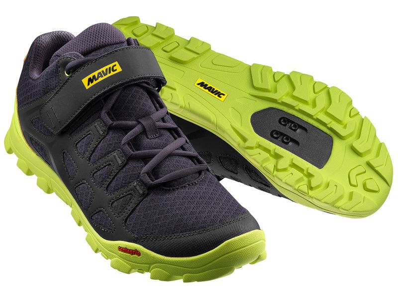 Mavic Crossride Shoes Black and Yellow 2018