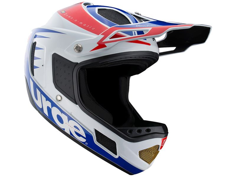 Urge Down-o-matic RR Helmet White-Red-Blue 2020