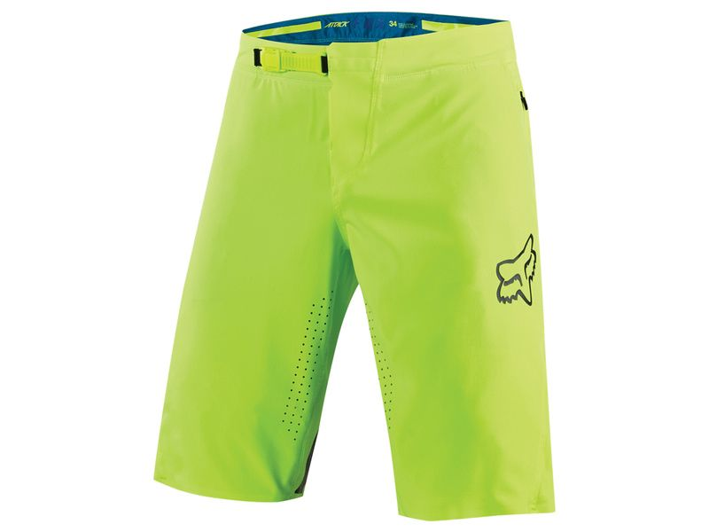 Fox Attack Short Neon Yellow (with chamois) 2017
