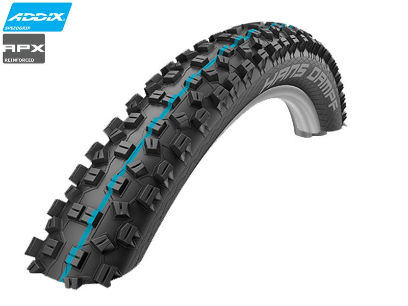 "Schwalbe Hans Dampf Tubeless Easy Apex E25 27,5"" - Addix Speedgrip 2019"