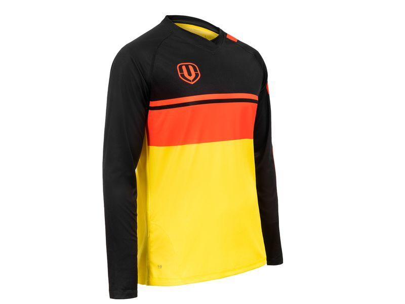 Mondraker Enduro Jersey Long Sleeves Black and Yellow 2018