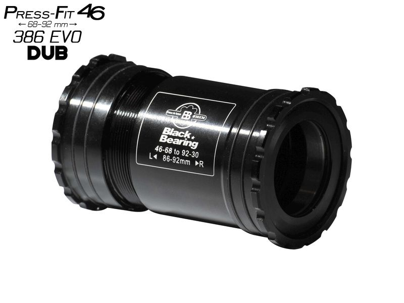 Black Bearing B5 PF46 68/92 Bottom Bracket for DUB (28,99 mm) spindle 2019