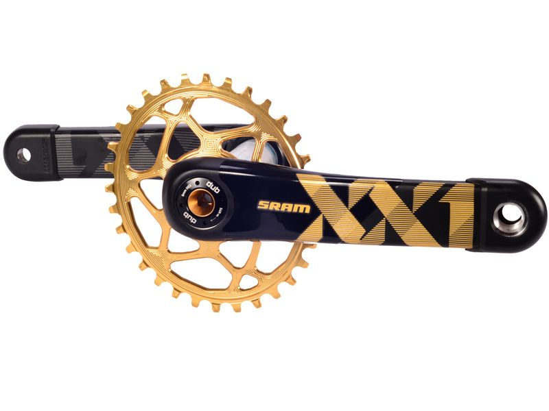 Sram XX1 Eagle DUB Boost Crankset with Absolute Black Oval Chainring 2019