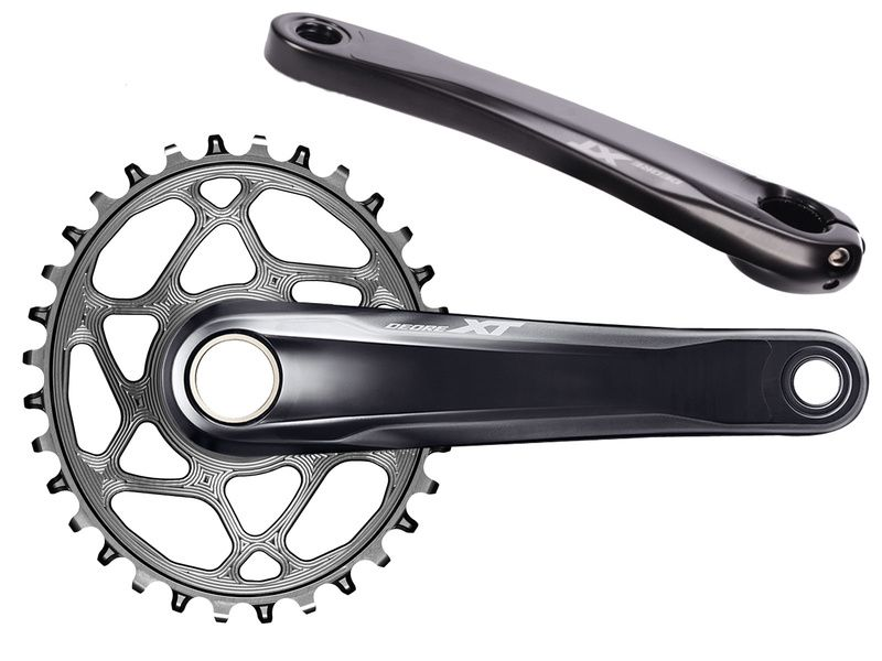 Shimano Deore XT FC-M8120 XT Crank Set Without Ring 12 Speed 55 MM Chainline